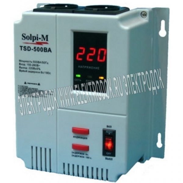 Стабилизатор напряжения Solpi-M TSD-750BA - Главное фото