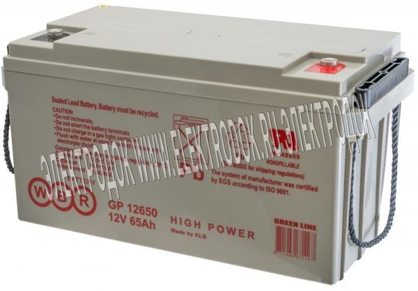 Аккумулятор WBR серии GP12650 - Главное фото