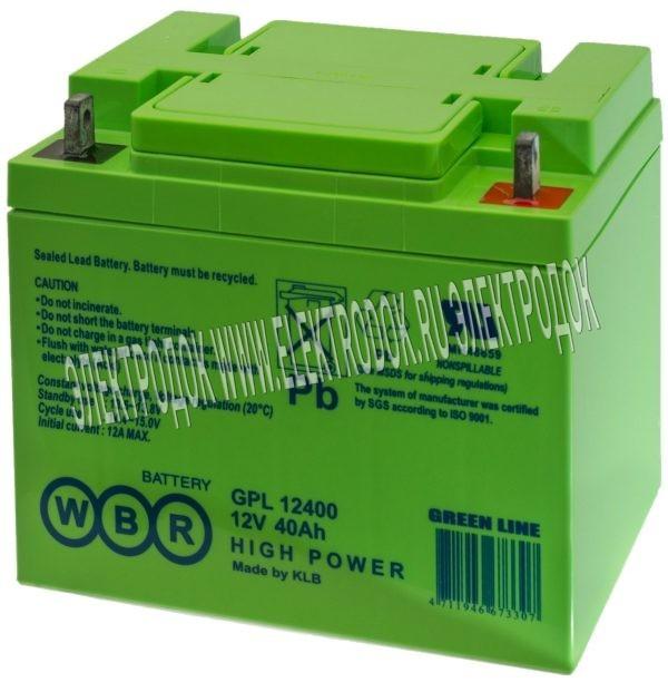 Аккумулятор WBR серии GPL12750 - Главное фото